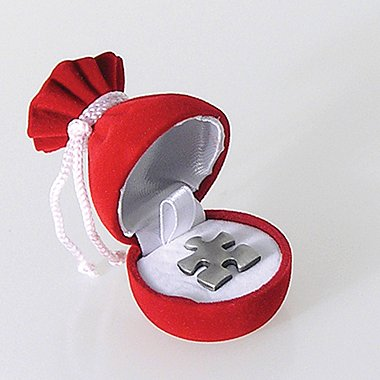 Gem Bag Lapel Pin Box - Red