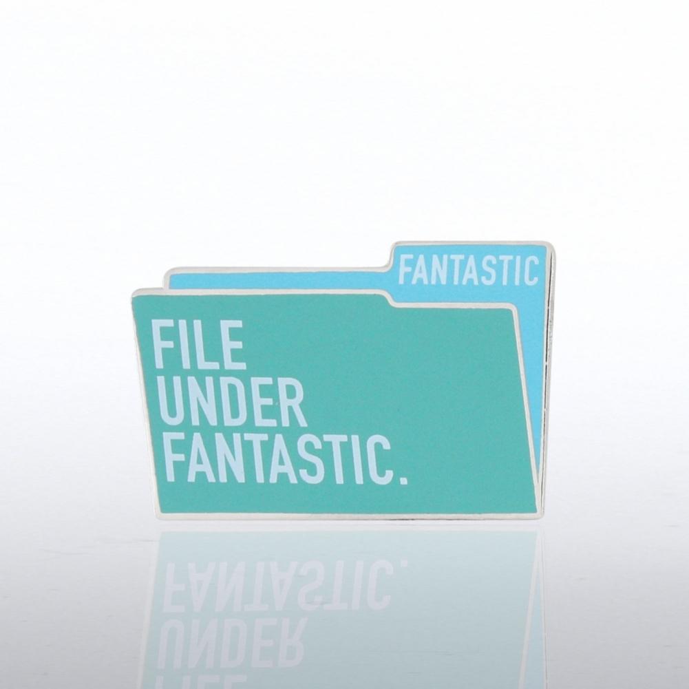 File Under Fantastic Lapel Pin=