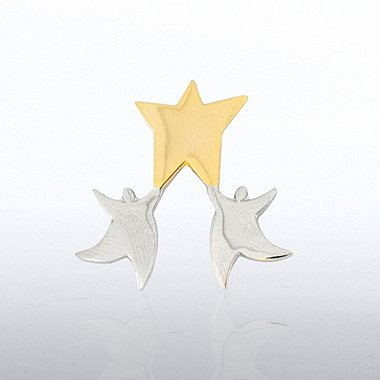 Lapel Pin - Star in Hands