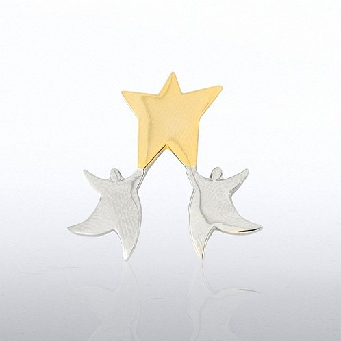 Star in Hands Lapel Pin