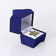 Star Lapel Pin Presentation Box - Blue