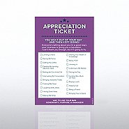 Recognition Ticket Note Pad - Appreciation