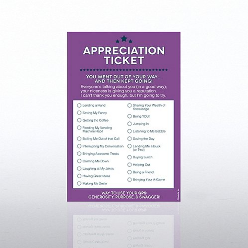 Appreciation Office Ticket Note Pad