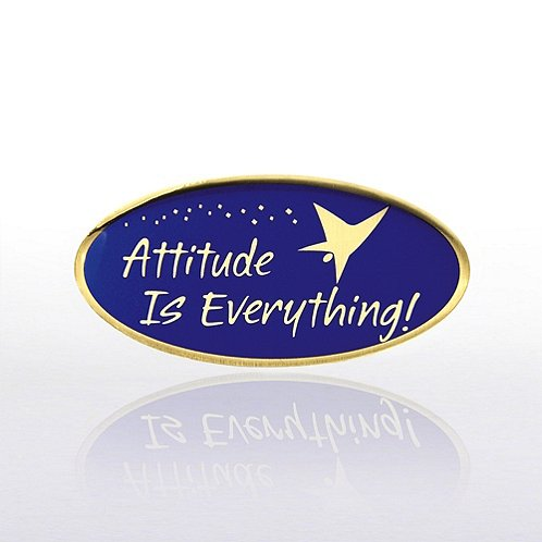 Attitude is Everything - Blue/Gold Lapel Pin