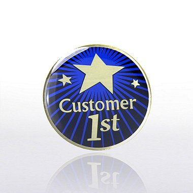 Lapel Pin - Customer 1st - Multi-Color