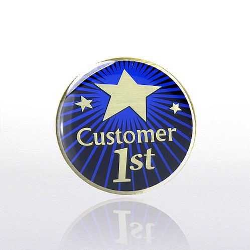 Customer 1st - Multi-Color Lapel Pin