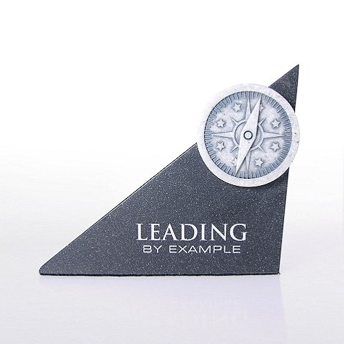 Compass: Leading by Example Sculptured Desk Award