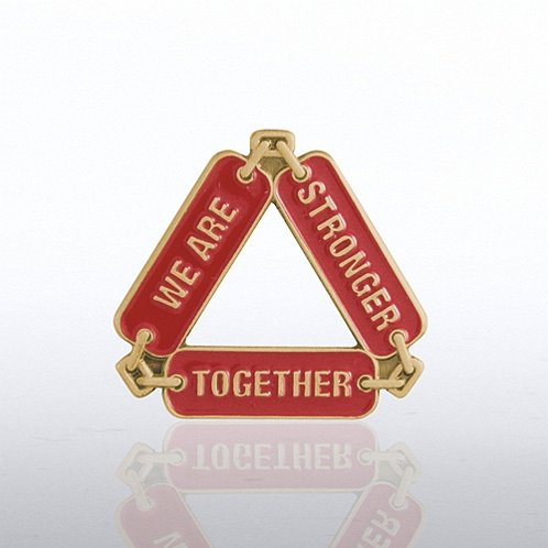Stronger Together Chain Lapel Pin