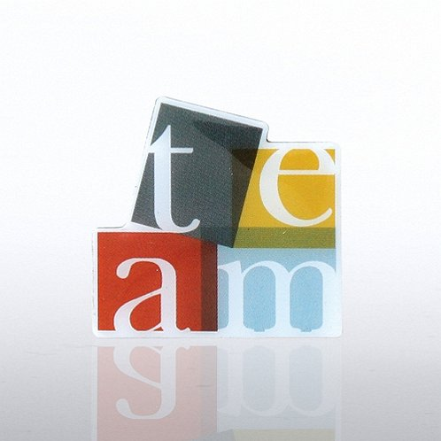 TEAM - Multi Color Lapel Pin