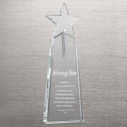 Pinnacle of Success Crystal Trophy - Beveled Star