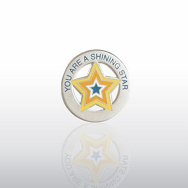 Lapel Pin - You're a Shining Star - Round