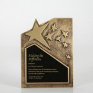 Resin Star Plaque - Gold - Large