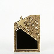 Resin Star Plaque - Gold - Small