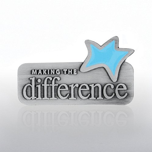 Making the Difference Blue Star Lapel Pin