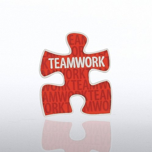 Teamwork Puzzle Piece Lapel Pin