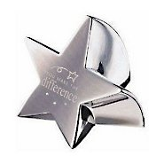 Paperweight - You Make the Difference - Silver