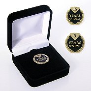 Anniversary Lapel Pin - Diamond Laurels