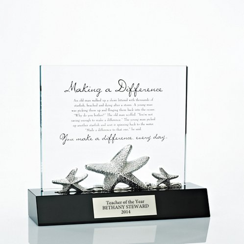 Starfish Crystal Character Trophy