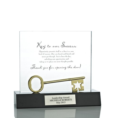 Key to our Success Crystal Character Trophy