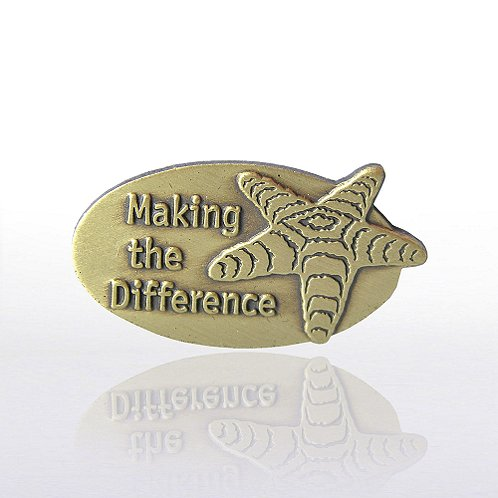 Starfish: Making the Difference Lapel Pin