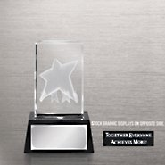 3-D Crystal Trophy - Together Everyone Achieves More