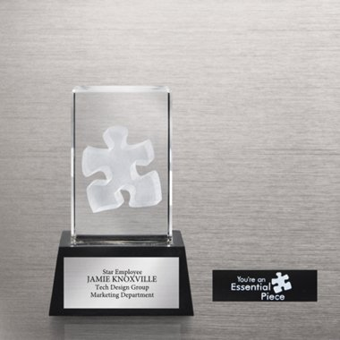 3-D Crystal Trophy - Essential Piece