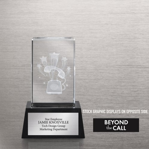 Beyond the Call 3-D Crystal Trophy