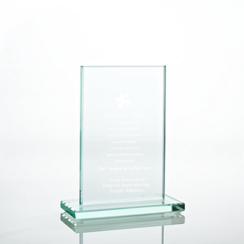Small Rectangle Jade Character Trophy
