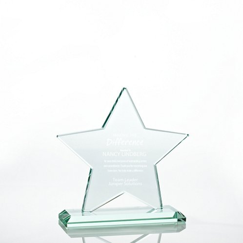 Star Premium Jade Glass Trophy