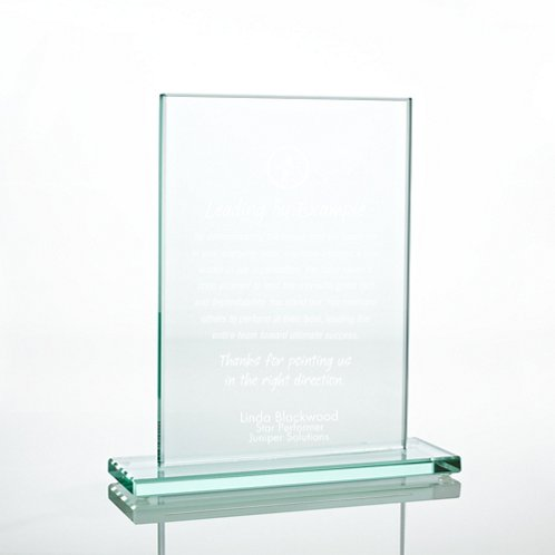 Large Rectangle Jade Character Trophy