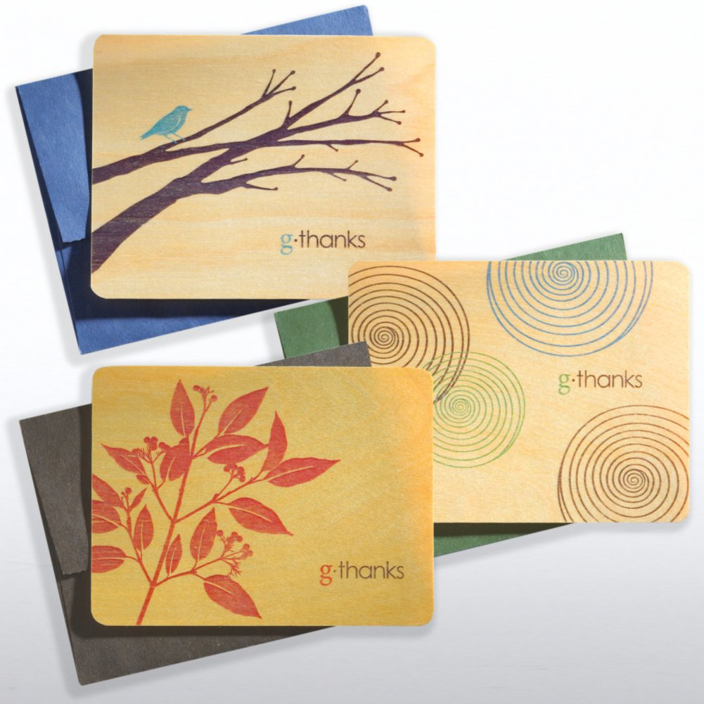 G-Thanks Wooden Note Cards