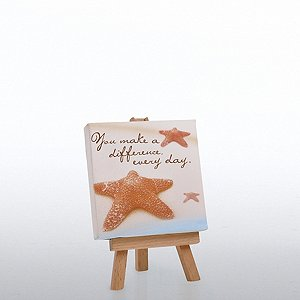 Inspirational Desktop Easel Art - Starfish: Making a Differ.
