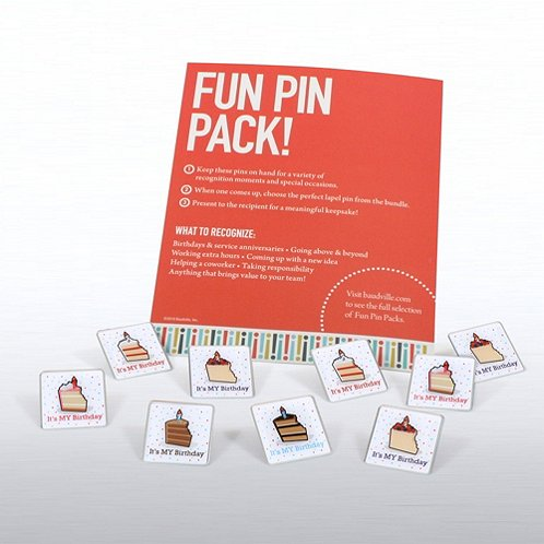 Birthday Fun Pin Packs