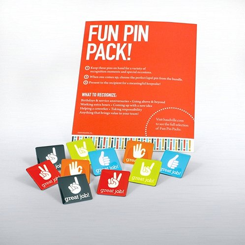 Great Job Fun Pin Packs
