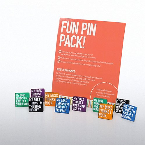 My Boss Thinks...Fun Pin Packs Assortment