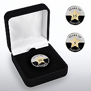 Anniversary Lapel Pin - Years of Service Circle Star