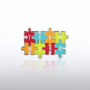 Lapel Pin - Teamwork Puzzle