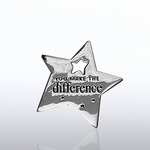 You Make the Difference Star Milestone Lapel Pin