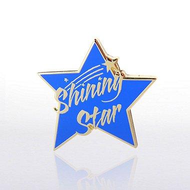Lapel Pin - Shining Star Blue