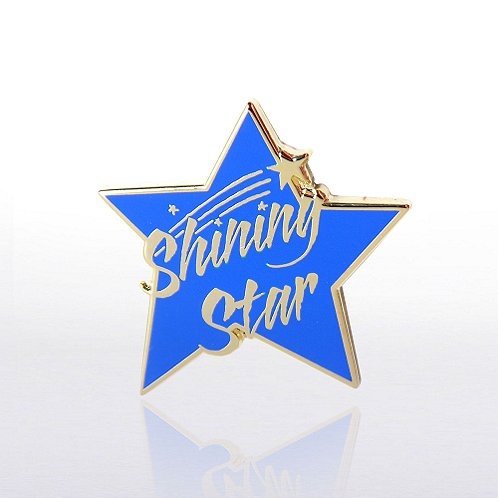 Shining Star Blue Lapel Pin