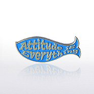 Lapel Pin - F.I.S.H - Attitude is Everything - Blue