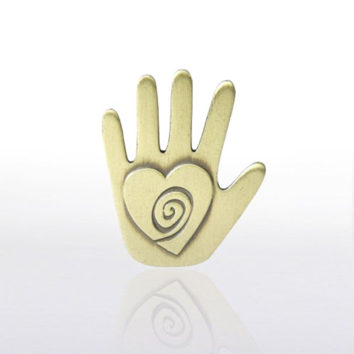 Helping Hand Lapel Pin at Baudville.com