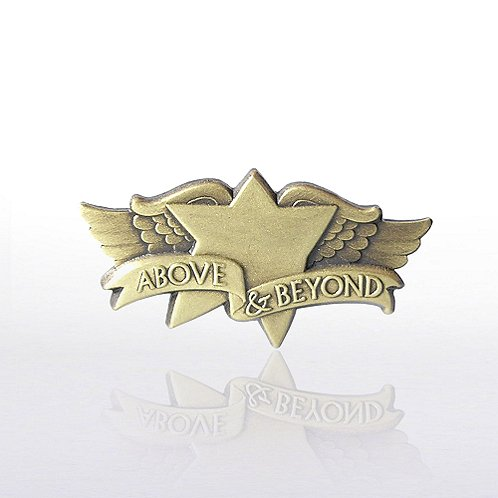 Above and Beyond Wings Lapel Pin