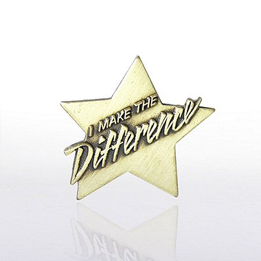 Lapel Pin - I Make the Difference