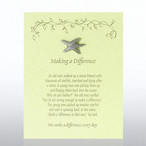 Starfish: Making a Difference - Green Card Character Pin