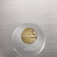 Embedded Medallion Trophy - You Make the Difference