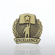 Lapel Pin - Academic Excellence - Book