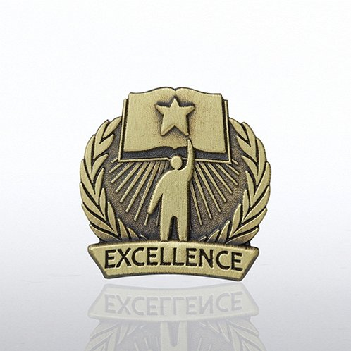 Academic Excellence Book Lapel Pin