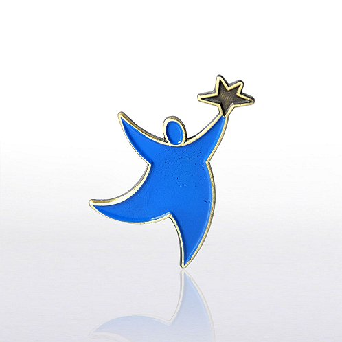 Team Guy Blue Lapel Pin