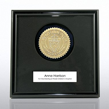 Framed Medallion - Excellence - Gold